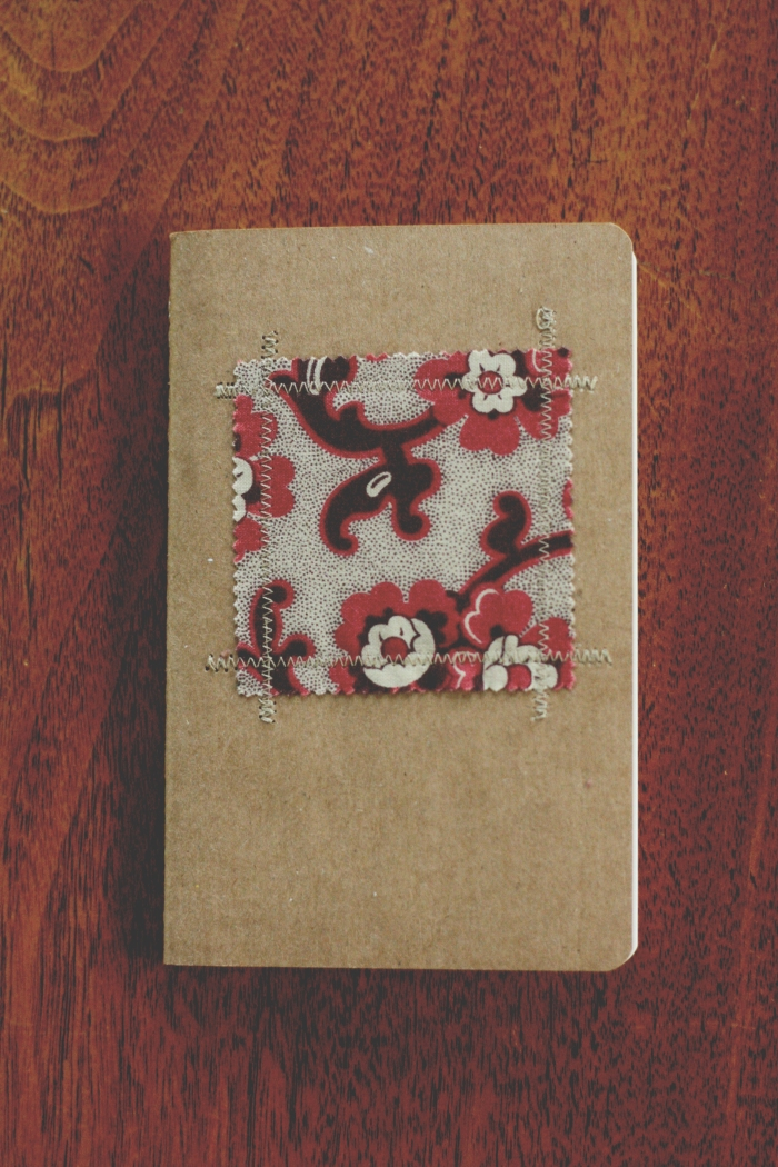 small stitched notebook