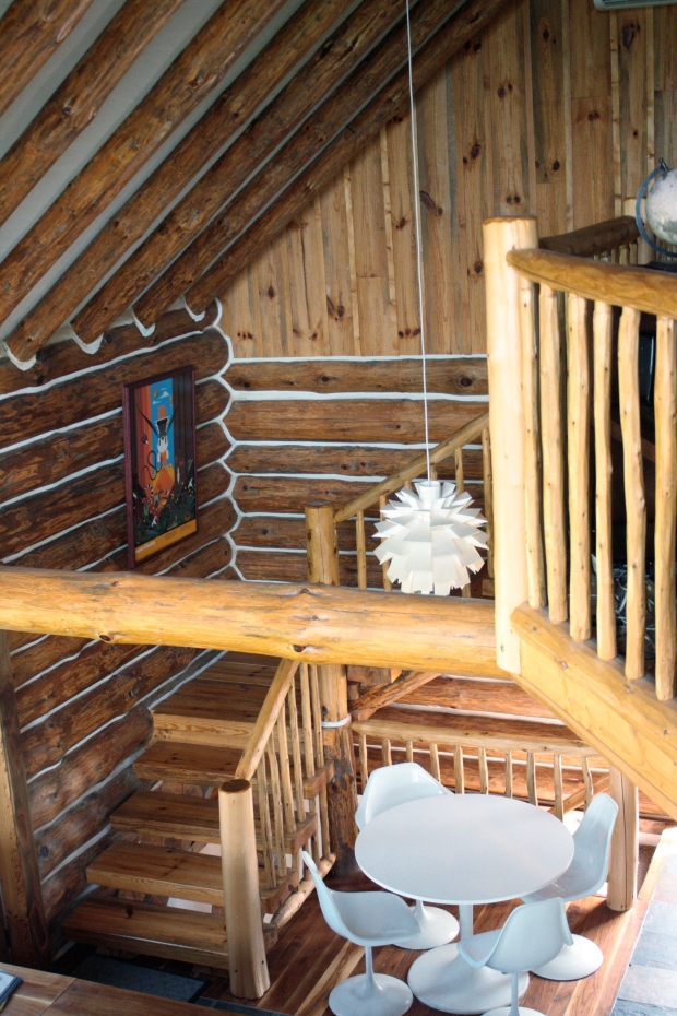 view from the loft of the chalet