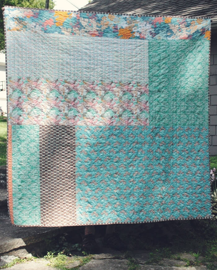 back of new york beauty quilt