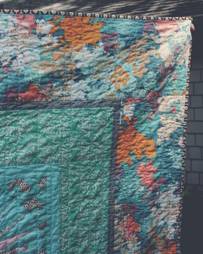 upper corner of new york beauty quilt