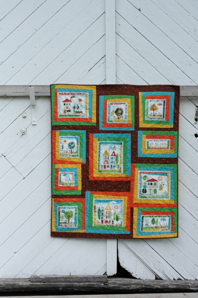 front of around the block quilt