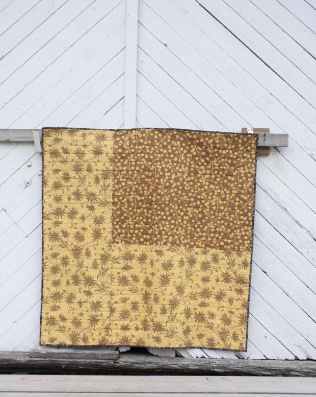 back of golden goose quilt