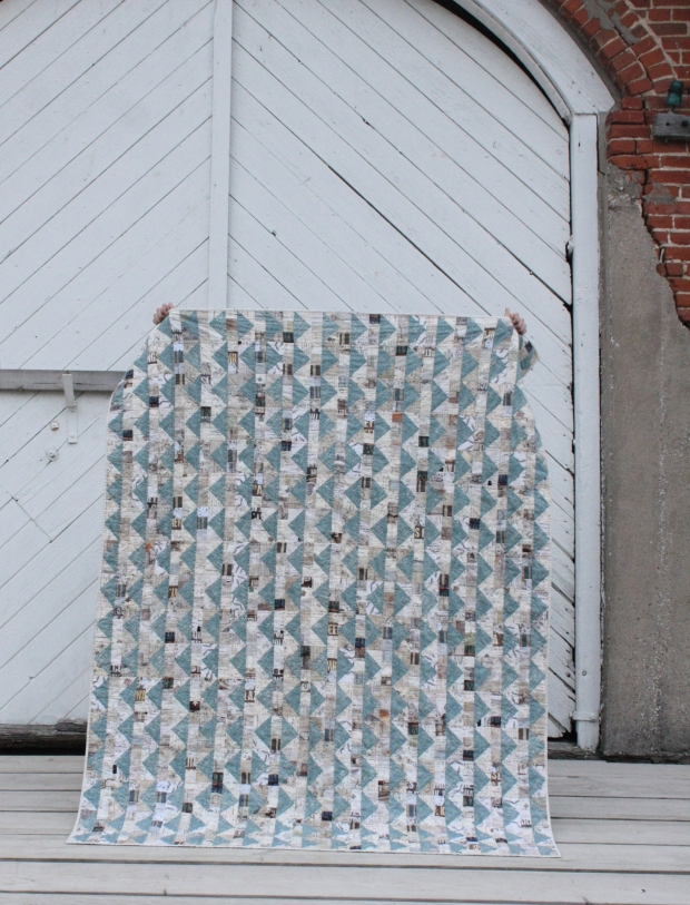 blue sky geese quilt