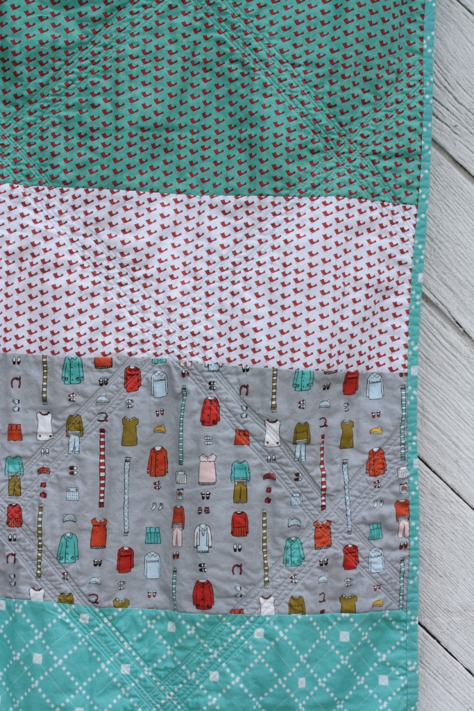 back of little apples quilt