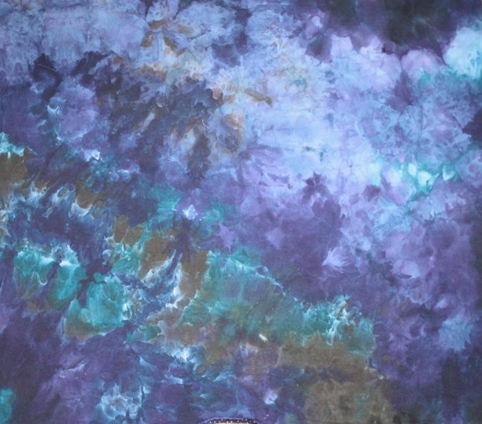 blue snow dye panel